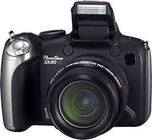 Canon's PowerShot SX20 IS digital camera. Photo provided by Canon USA Inc. Click for a bigger picture!