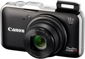 Canon's PowerShot SX220 HS digital camera. Photo provided by Canon USA Inc. Click for a bigger picture!