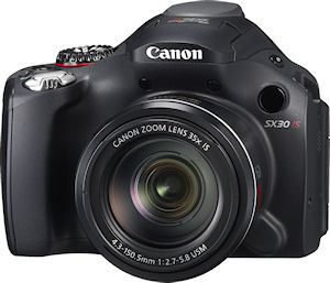 Canon's PowerShot SX30 IS digital camera. Photo provided by Canon USA Inc. Click for a bigger picture!