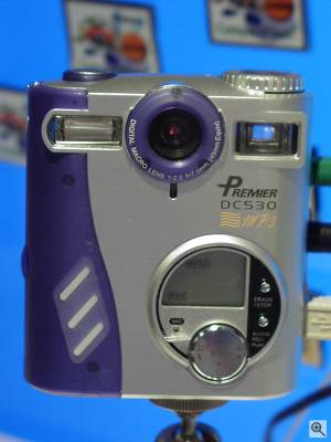 Premier's DC530 MP3 digital camera; identical to  the Vivitar ViviCam 2795 except for the logo. Copyright (c) 2001, The Imaging Resource, all rights reserved. Click for a bigger picture!