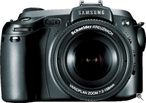 Samsung's Pro815 digital camera. Courtesy of Samsung, with modifications by Michael R. Tomkins. Click for a bigger picture!