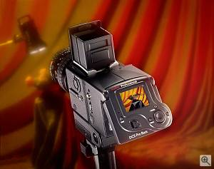 Kodak's DSC Pro Back, rear left quarter view #1. Courtesy of Kodak - click for a bigger picture!