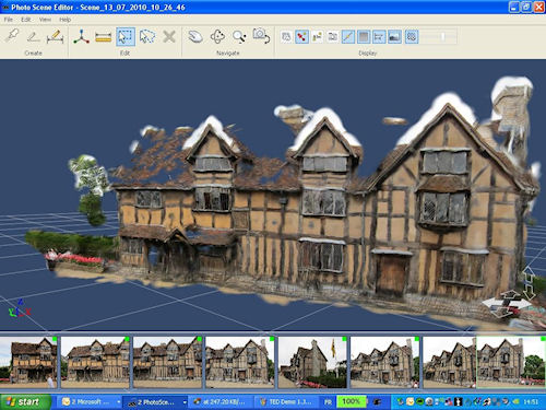 Use Autodesk Project Photofly at the start of building remodeling projects. Screenshot and caption provided by Autodesk Inc. Click for a bigger picture!