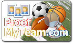 ProofMyTeam.com logo. Image provided by PhotoLynx Inc.