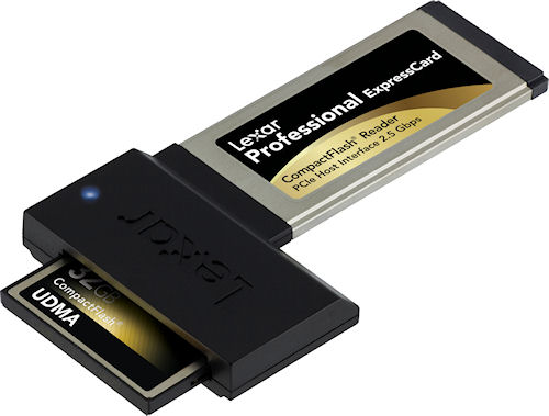 Lexar's 32GB Professional 600x UDMA CompactFlash card. Photo provided by Lexar Media Inc. Click for a bigger picture!