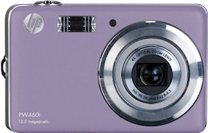 Hewlett Packard's PW460t digital camera. Photo provided by Hewlett Packard Development Company L.P. Click for a bigger picture!