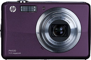 Hewlett Packard's PW550 digital camera. Photo provided by Hewlett Packard Development Company L.P. Click for a bigger picture!