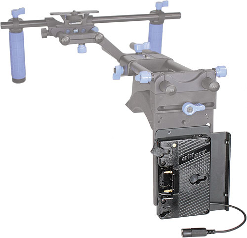 The Anton/Bauer QR-DSLR power solution. Photo provided by Vitec Group plc. Click for a bigger picture!