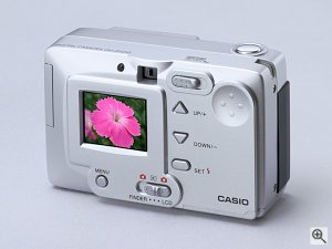 Casio's QV2100 digital camera. Courtesy of Casio Computer Co. Ltd. Click for a bigger picture!