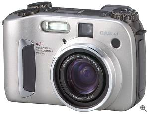 Casio QV4000 digital camera. Courtesy of Casio. Click for a bigger picture!