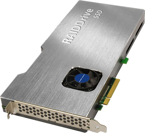 Super Talent's PCI Express RAIDDrive SSD. Photo provided by Super Talent Technology Corp.