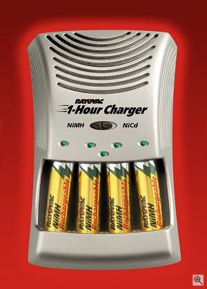 Rayovac's new 1 hour NiMH / NiCD charger. Courtesy of Rayovac - click for a bigger picture!