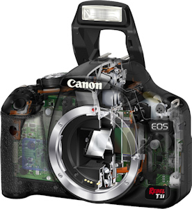 Canon's EOS 500D Rebel T1i digital SLR. Photo provided by Canon USA Inc. Click for a bigger picture!