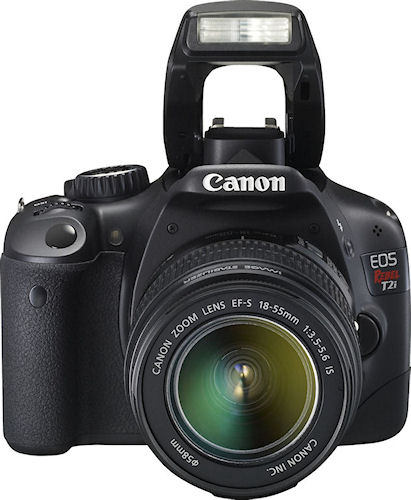 Canon's EOS Rebel T2i digital SLR, known in Europe as the EOS 550D. Photo provided by Canon. Click for a bigger picture!