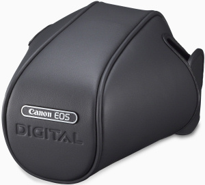 Canon's EOS Digital Rebel XT case. Courtesy of Canon, with modifications by Michael R. Tomkins. Click for a bigger picture!