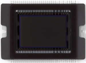 Canon's EOS Digital Rebel XT CMOS image sensor. Courtesy of Canon, with modifications by Michael R. Tomkins. Click for a bigger picture!