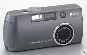 Ricoh Caplio Pro G3. Courtesy of Ricoh, with modifications by Michael R. Tomkins. Click for a bigger picture!