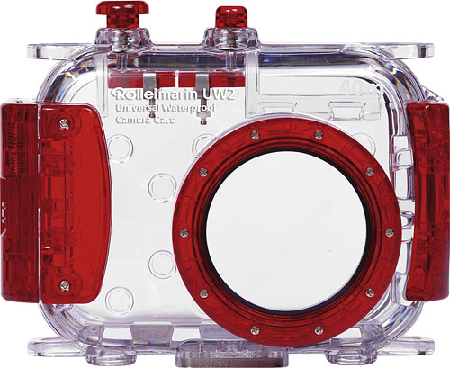 Rollei's Rolleimarin UW2 with red trim. Photo provided by RCP-Technik GmbH & Co. KG. Click for a bigger picture!