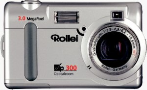 Rollei's dp300 digital camera. Courtesy of Rollei Germany, with modifications by Michael R. Tomkins. Click for a bigger picture!
