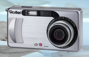 Rollei's dr5 digital camera. Courtesy of Rollei, with modifications by Michael R. Tomkins. Click for a bigger picture!