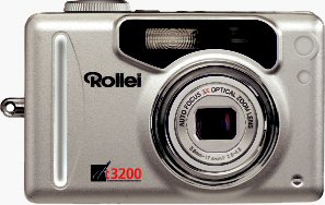 Rollei's dt3200 digital camera. Courtesy of Rollei Germany, with modifications by Michael R. Tomkins. Click for a bigger picture!