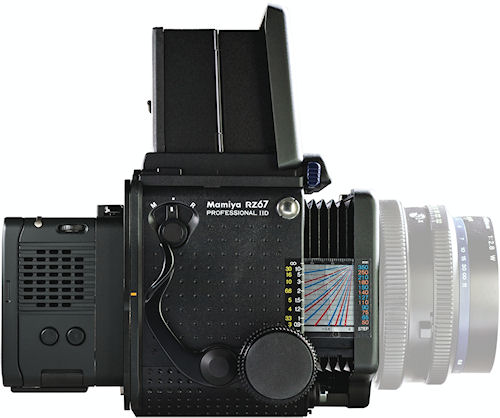 Mamiya RZ22 system, comprising 22 megapixel DM digital back and Mamiya RZ67 Pro-IID camera. Photo provided by MAC Group. Click for a bigger picture!