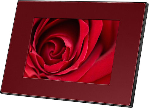 Sony's S-Frame DPF-E73 digital picture frame. Photo provided by Sony Europe (Belgium) N.V. Click for a bigger picture!