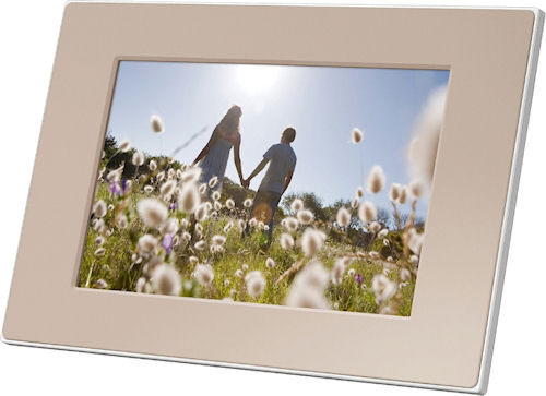 Sony's S-Frame DPF-E75 digital picture frame. Photo provided by Sony Europe (Belgium) N.V. Click for a bigger picture!