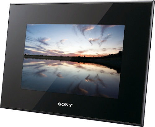 Sony's S-Frame DPF-X95 digital picture frame. Photo provided by Sony Europe (Belgium) N.V. Click for a bigger picture!