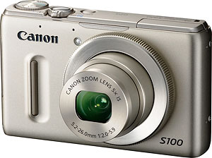 Canon's PowerShot S100 digital camera. Photo provided by Canon USA Inc. Click for a bigger picture!