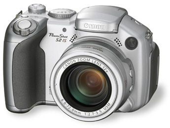 Canon's PowerShot S2 IS digital camera. Courtesy of Canon Japan, with modifications by Michael R. Tomkins.