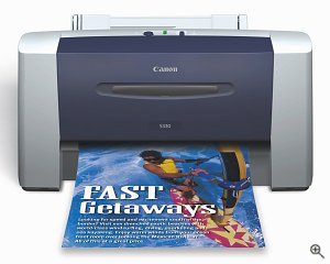 Canon's S330 Color Bubble Jet Printer. Courtesy of Canon U.S.A. Inc., with modifications by Michael R. Tomkins.