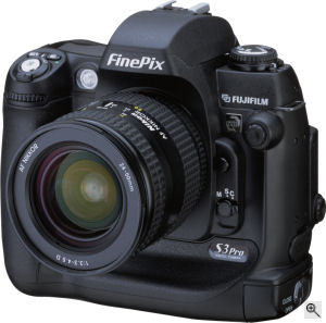 Fujifilm's FinePix S3 Pro UVIR digital camera. Courtesy of Fujifilm, with modifications by Michael R. Tomkins. Click for a bigger picture!