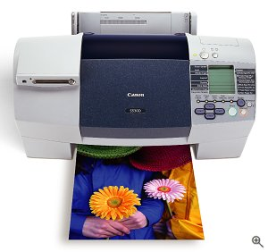 Canon's S530D Color Bubble Jet Printer. Courtesy of Canon U.S.A. Inc., with modifications by Michael R. Tomkins.