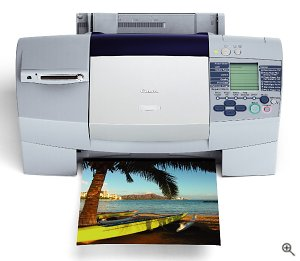 Canon's S830D Color Bubble Jet Printer. Courtesy of Canon U.S.A. Inc., with modifications by Michael R. Tomkins.