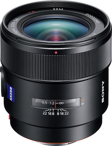 The Distagon T* 24mm F2 SSM lens. Photo provided by Sony Europe (Belgium) N.V. Click for a bigger picture!