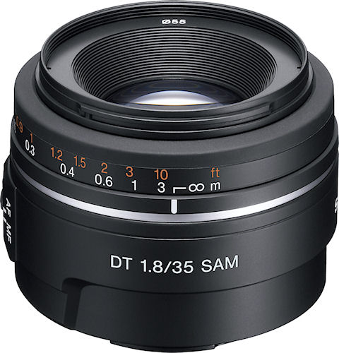 The DT 35mm F1.8 SAM lens. Photo provided by Sony Europe (Belgium) N.V. Click for a bigger picture!