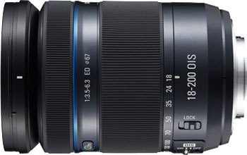 The Samsung 18-200mm F3.5-6.3 ED OIS NX lens. Photo provided by Samsung Electronics Co., Ltd.