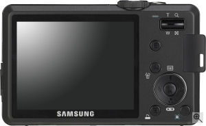 Samsung's S1050 digital camera. Courtesy of Samsung, with modifications by Michael R. Tomkins. Click for a bigger picture!