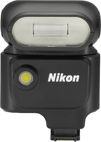 Nikon's Speedlight SB-N5 flash strobe is, says the company, the world's smallest to offer a bounce/swivel head. Photo provided by Nikon Corp. Click for a bigger picture!
