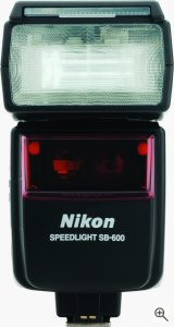 Nikon's SB-600 Speedlight. Courtesy of Nikon, with modifications by Michael R. Tomkins. Click for a bigger picture!