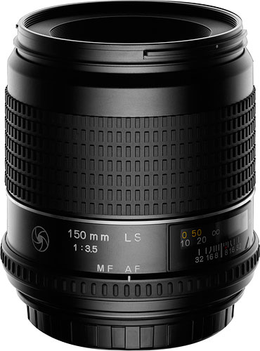 The Schneider Kreuznach 150 mm LS lens. Photo provided by Phase One A/S. Click for a bigger picture!