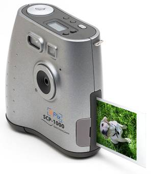 SiPix's SCP-1000 digital camera with color print  shown. Courtesy of SiPix. Click for a bigger picture!