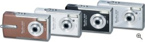 Canon's PowerShot Digital ELPH SD10. Courtesy of Canon, with modifications by Michael R. Tomkins. Click for a bigger picture!
