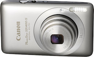 Canon's PowerShot SD1400IS digital camera. Photo provided by Canon. Click for a bigger picture!