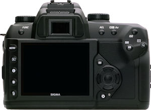 Sigma's SD15 digital SLR. Courtesy of Sigma, with modifications by Michael R. Tomkins. Click for a bigger picture!