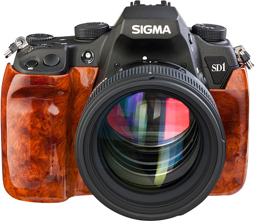 The Sigma SD1 Wood Edition. Photo provided by Sigma Deutschland GmbH. Click for a bigger picture!