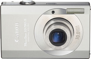 Canon's PowerShot SD790 IS Digital ELPH. Courtesy of Canon, with modifications by Michael R. Tomkins. Click for a bigger picture!