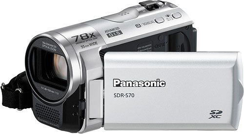 Panasonic's SDR-S70 camcorder. Photo provided by Panasonic Consumer Electronics Co. Click for a bigger picture!