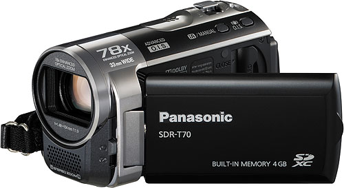 Panasonic's SDR-T70 camcorder. Photo provided by Panasonic Consumer Electronics Co. Click for a bigger picture!